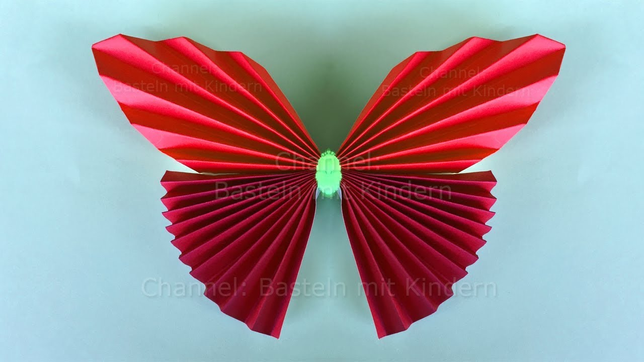 Bastelideen Schmetterling Origami Butterfly Easy Tutorial For A Paper Butterfly