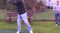 Fudge Finlay first shot at golf from Port Glasgow