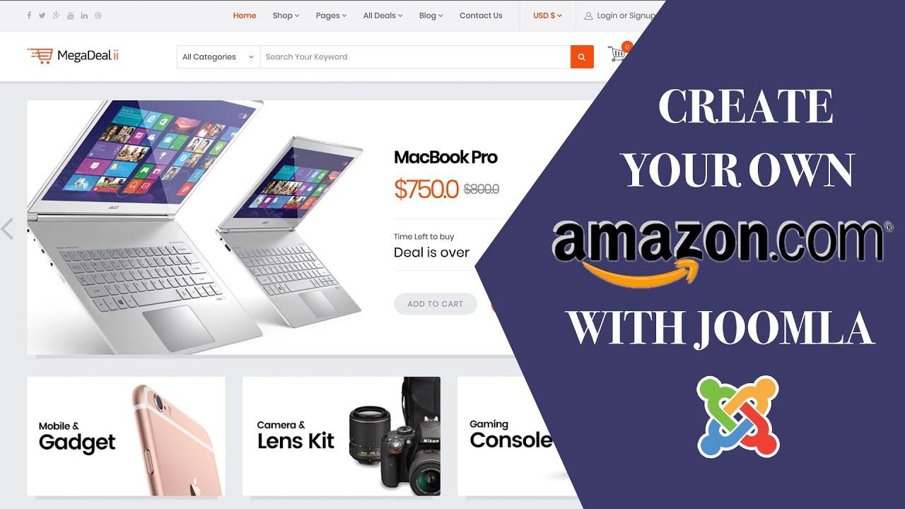 how to create website on amazon