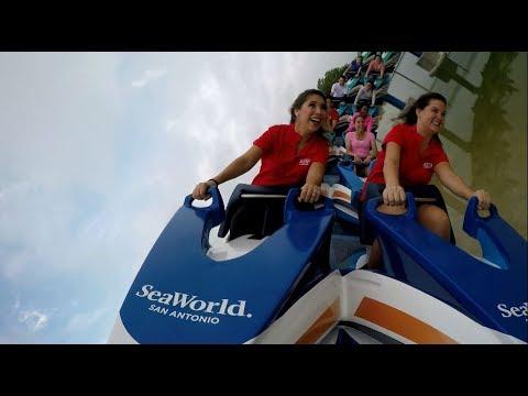 Take a ride on SeaWorld San Antonio's Wave Breaker: The Rescue Coaster