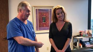 Houston Chiropractor Dr Gregory Johnson Adjust Tomball Lady  For Severe Lower Back Pain & Spasm