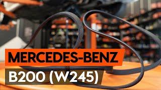 Kā nomainīt rievsiksna / ķīļrievu siksna MERCEDES-BENZ B200 (W245) [AUTODOC VIDEOPAMĀCĪBA]