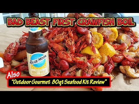 Bad Beast First Crawfish Boil - Outdoor Gourmet Seafood Kit Review