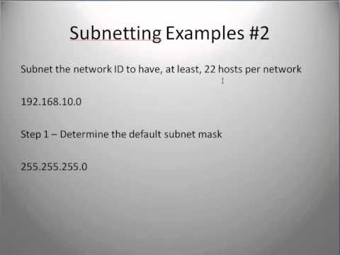 Subnetting Part 2 - Subnetting for Hosts