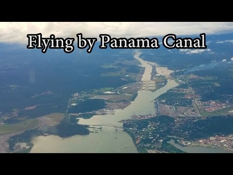 Flying by the Panama Canal - 4K