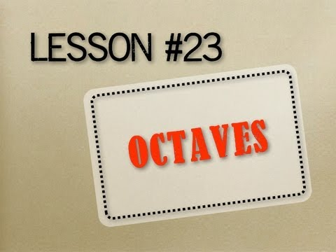 How to Read Music - Lesson 23 - Octaves