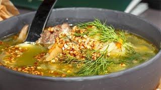 Любимые Рецепты.  Щи из квашеной капусты с белыми грибами.  А еще с попкорном из гречки!