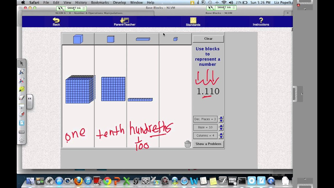 worksheet Adding Decimals With Base Ten Blocks Worksheets base ten blocks and decimal place value youtube