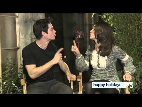 Dylan O † Brien & Crystal Reed Wish You A Happy Holiday!