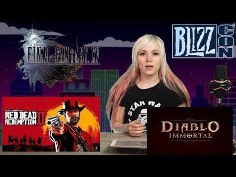 Gaming News: Blizzard BOO'ED @ Blizzcon! FFXV DLCs CANCELLED! FFXIV + FFXV Crossover! RDR2 HUGE BUG!