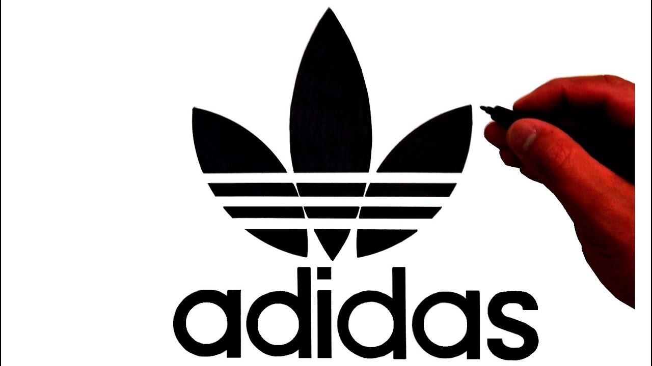 How To Draw The Original Adidas Trefoil Logo Youtube