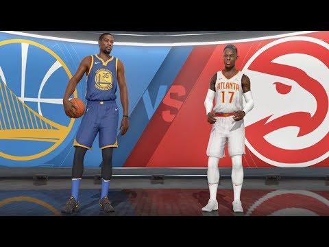 NBA Live 18 - Atlanta Hawks vs Golden State Warriors - Gameplay (HD) [1080p60FPS]