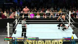 WWE Survivor Series 2015 The Undertaker Kane and Sting VS The Wyatt Family WWE 2K16