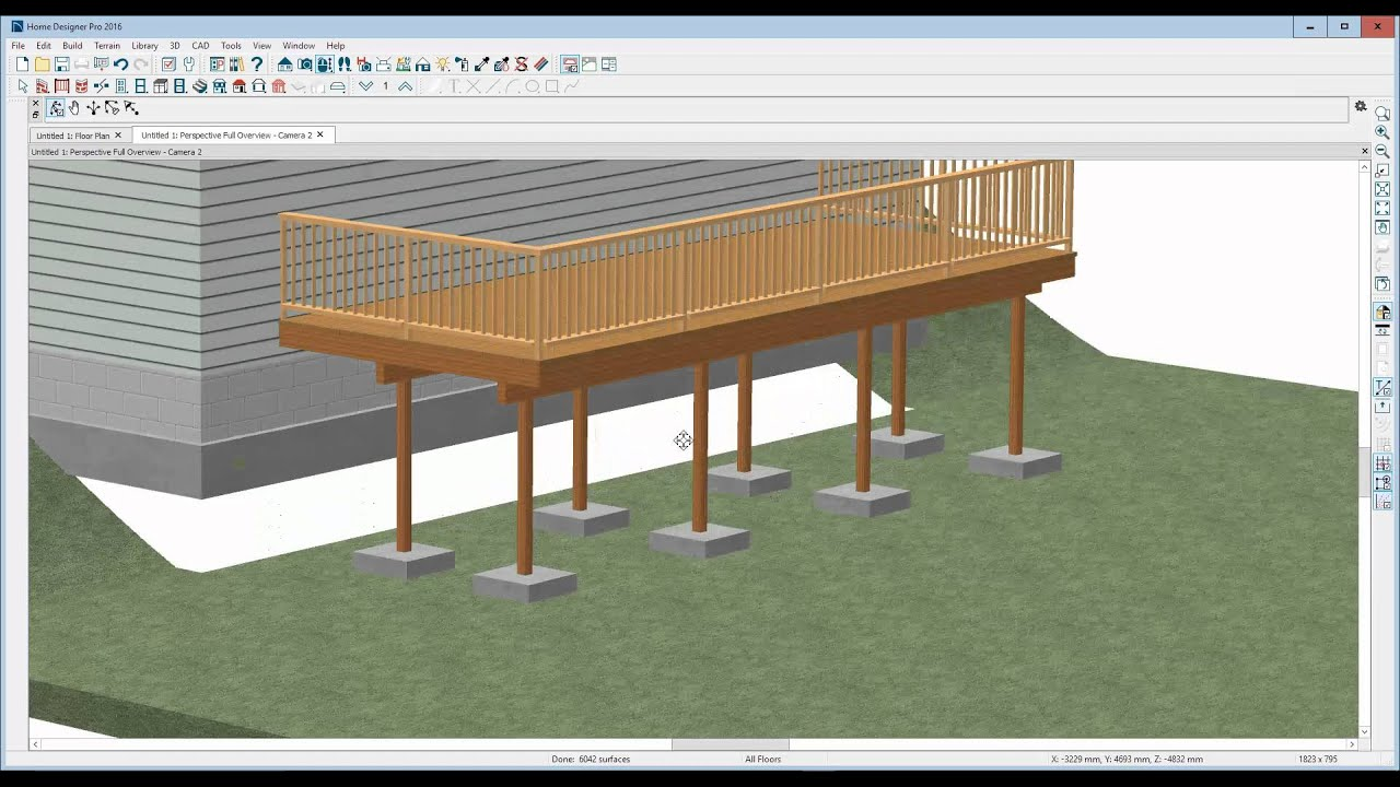 How To Edit Deck Posts And Footings In Home Designer Pro 2016   YouTube