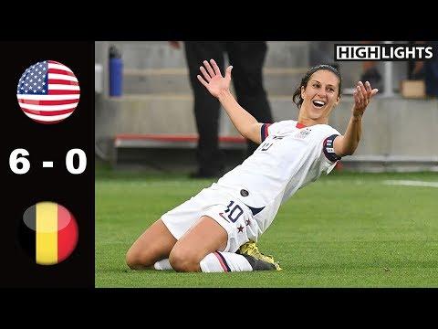 USA vs Belgium 6 - 0 All Goals & Highlights | April 7, 2019