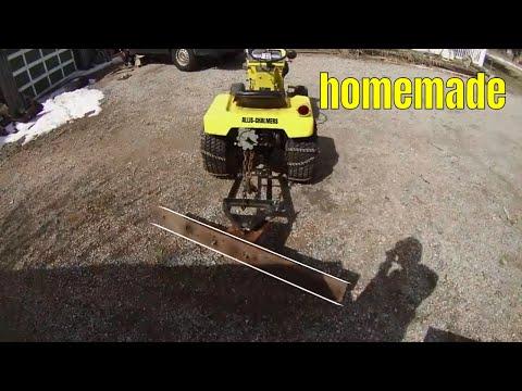 Homemade Garden Tractor Grader Blade