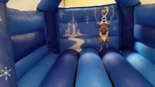 Frozen bouncy castle with speaker unofficial