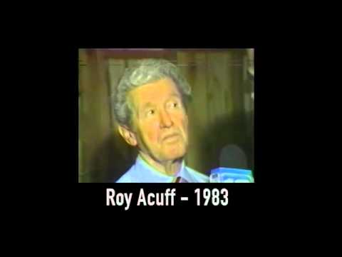 Roy Acuff - King of Country music - long lost interview - 1983