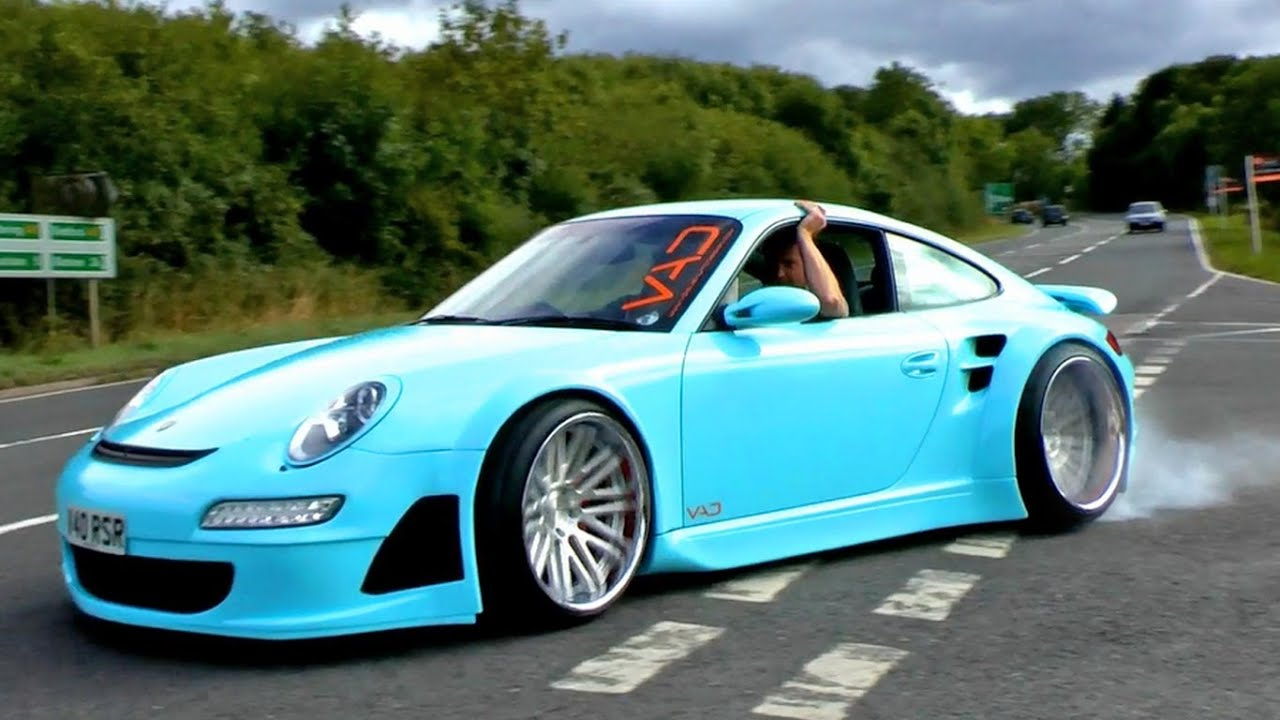 Widebody Porsche 997 And 993 Revs Wheelspin And Scenes