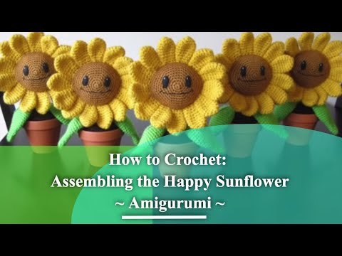 Crochet Sunflower + Diagrams (With images) | Crochet sunflower ... | 360x480
