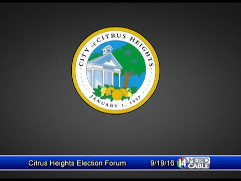 Citrus Heights Election Forum