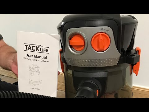 UNBOXING REVIEW TACKLIFE Wet and Dry Vacuum 4 Gallon 4 HP Peak Shop Vacuum with Extension Wand