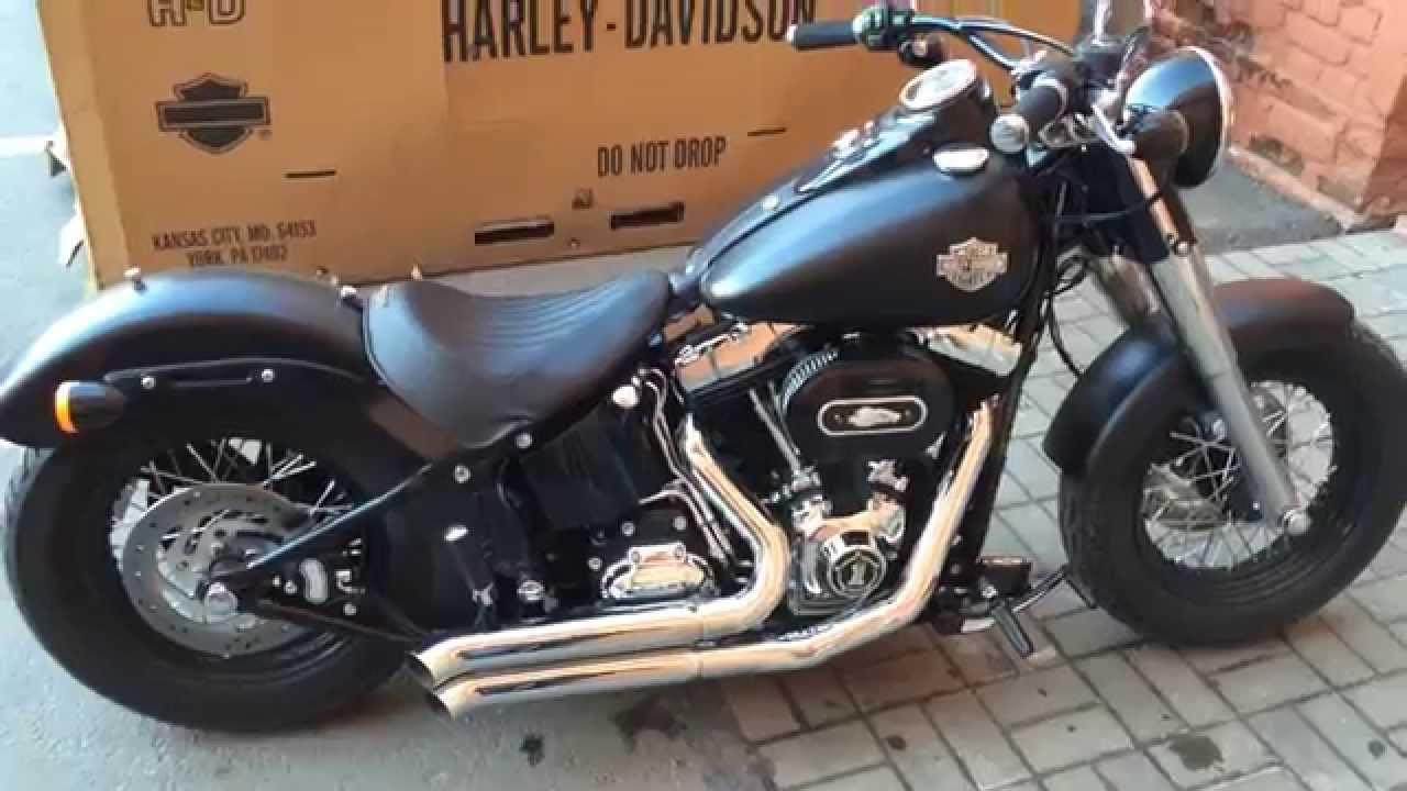 Harley Davidson Slim: Harley-Davidson Softail Slim '13 Bassani Exhaust