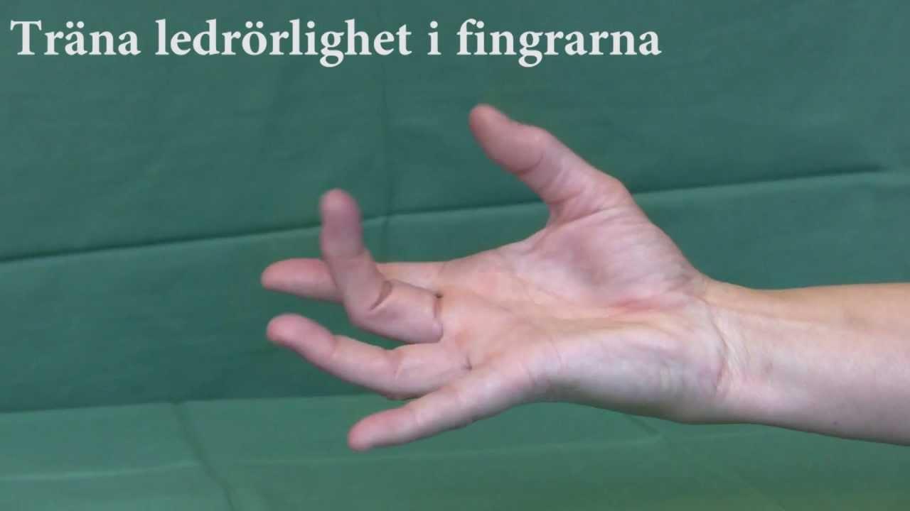 artros fingrar övningar