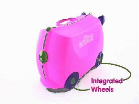 Trunki Ride On Suitcase-Trixie (Kiddies-Kingdom.Com) - YouTube