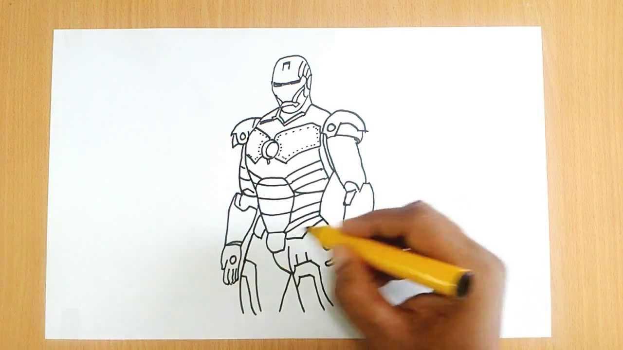 How To Draw Iron Man Youtube