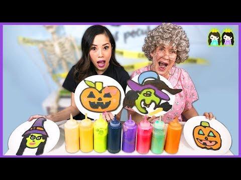 PANCAKE ART CHALLENGE!! Halloween Edition