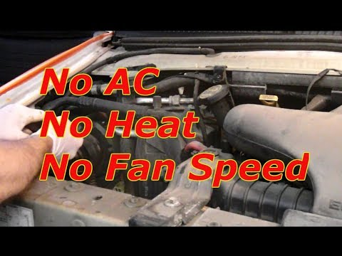 how to diagnose no fan speed on a ford e150,e250 e350,f150,f250 and f350