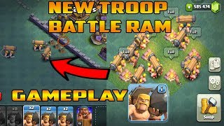new troop BATTLE RAM gameplay mode | clash of clans private server | cocwithaj