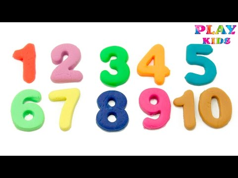 Learning numbers with Play Doh Learn to count Numbers 1 to 20 Counting kinetic sand make numbers