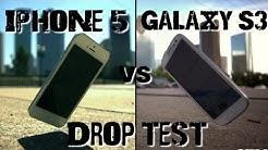 Drop Test: iPhone 5 vs Samsung Galaxy S3
