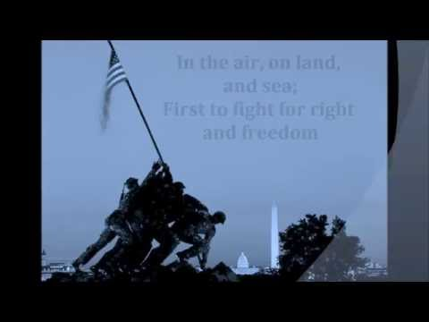 MARINES' HYMN SONG WORDS LYRICS PATRIOTIC VETERANS MEMORIAL July 4th PATRIOT DAY SING-ALONG SONGS