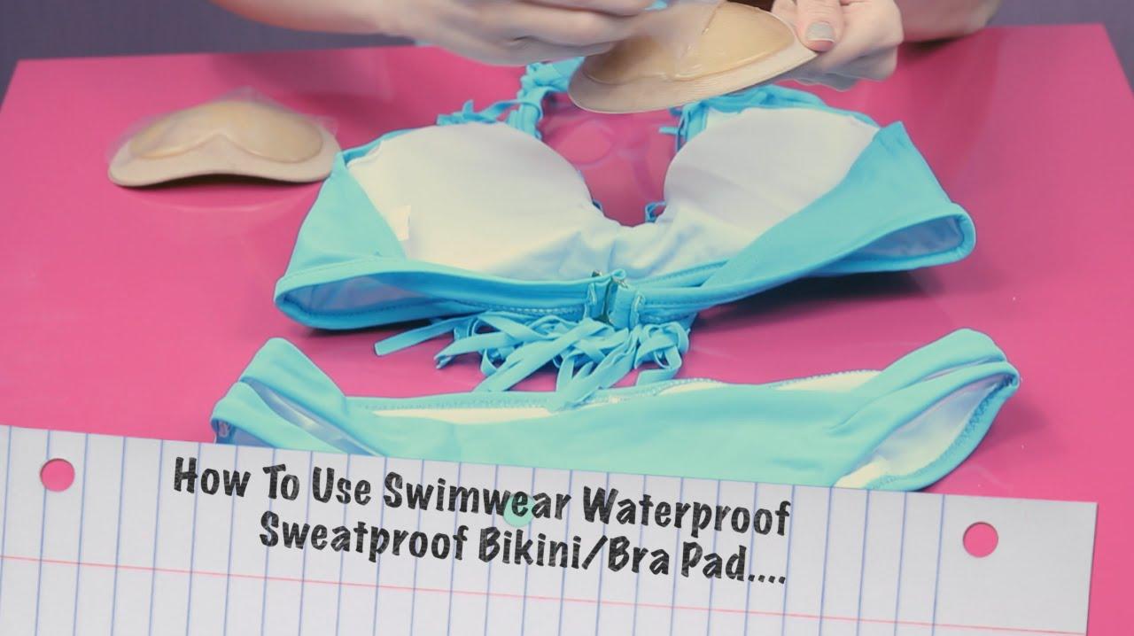 push up stick on waterproof swim wear or lingerie bra pads