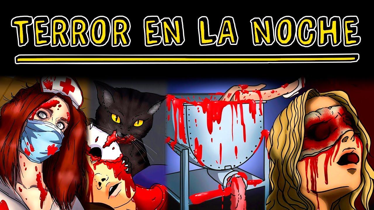 Terror en la noche 🔪 Historias de Terror  | Tiktak Draw Terror
