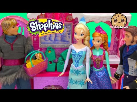 Shopkins Season 3 12 Pack Unboxing + 2 Blind Bags With Disney Frozen Queen Elsa Hans + Anna