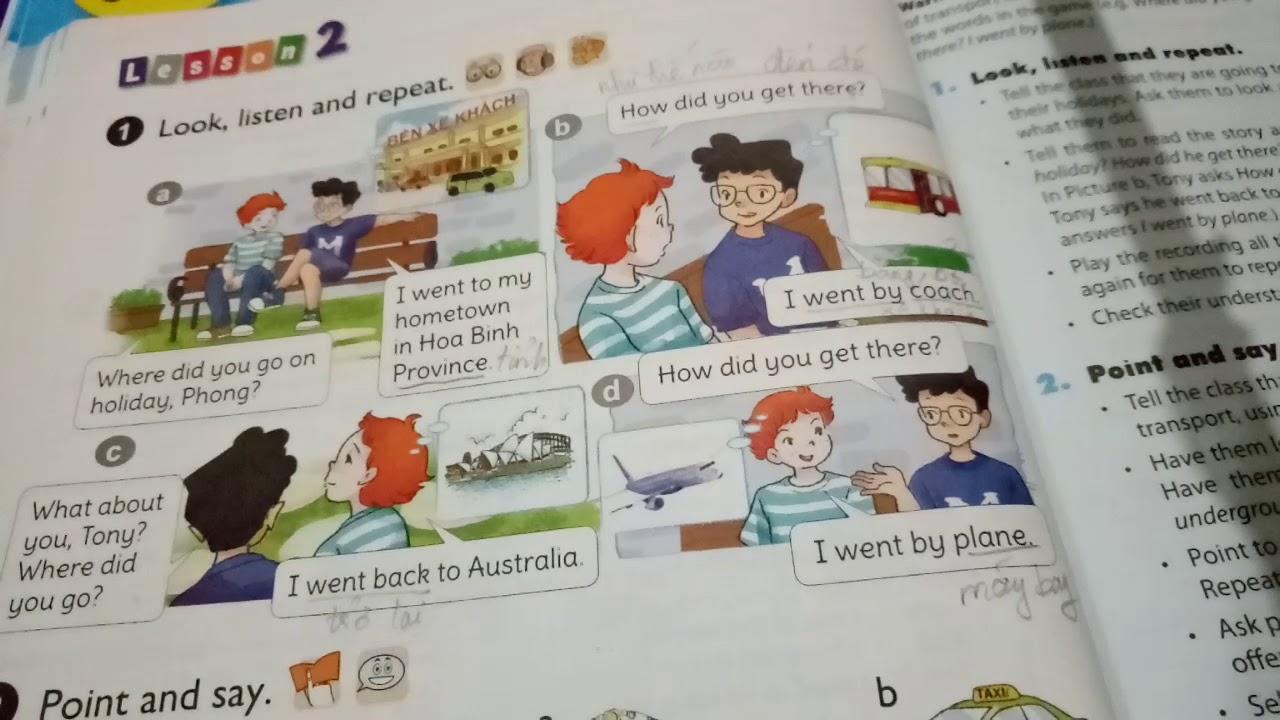 Hướng dẫn học Tiếng Anh lớp 5 Unit 3 lesson 2