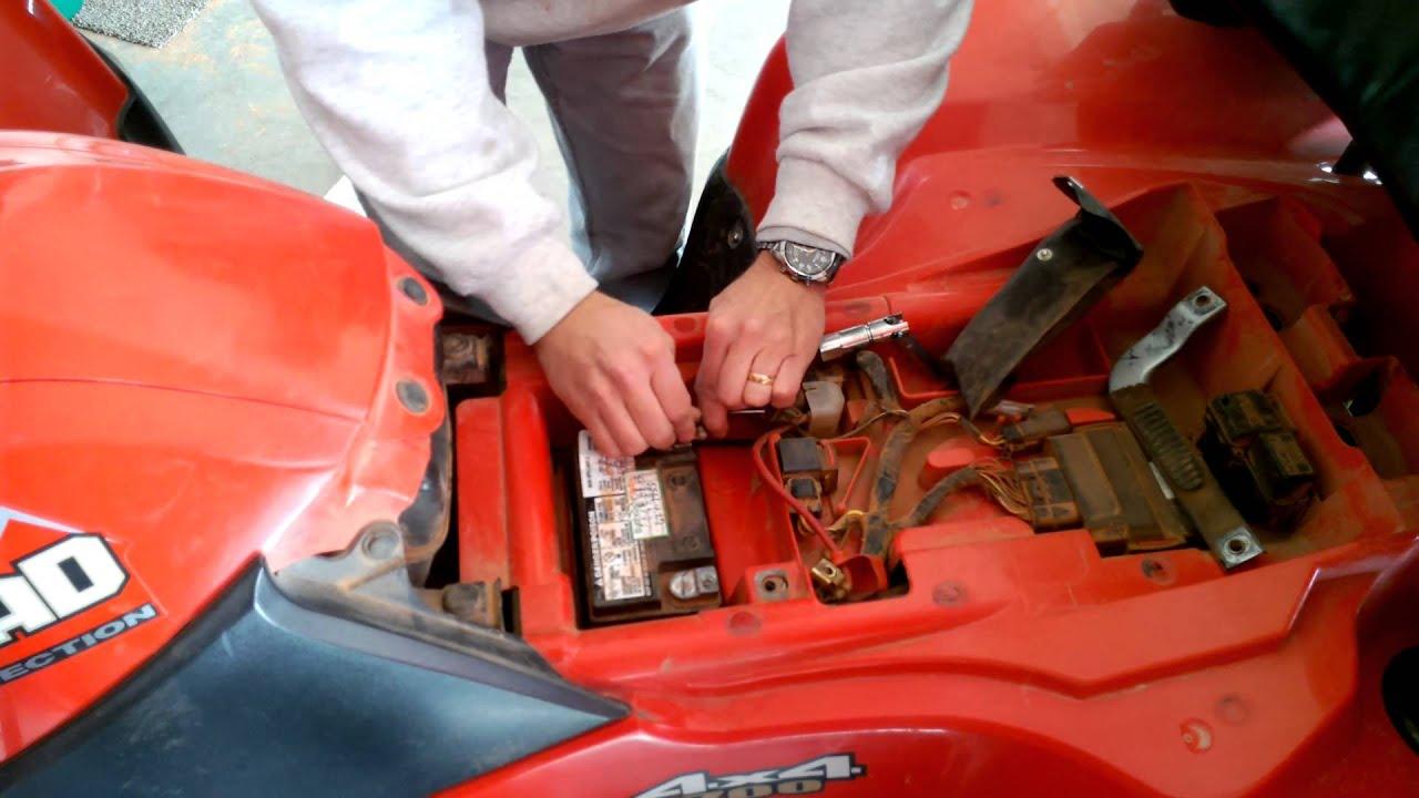 1990 Honda Fourtrax 300 Wiring Diagram Logic For D Flip Flop Atv Battery Installation Youtube