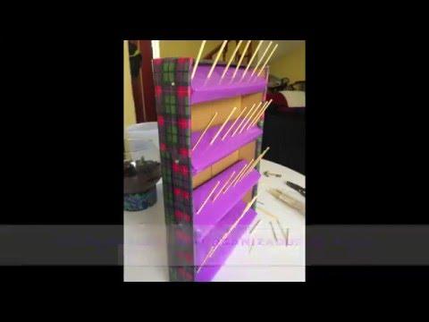 Organizador de hilos y listones youtube for Listones de madera para palets
