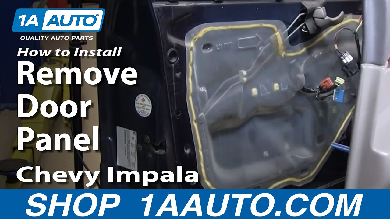 how to install replace remove door panel chevy impala 00 05 youtube. Black Bedroom Furniture Sets. Home Design Ideas