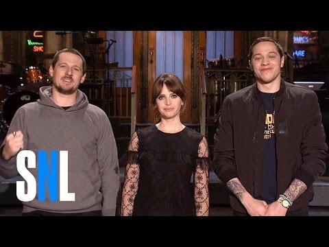 SNL Host Felicity Jones Grants Sturgill Simpson & Pete Davidson's Wish