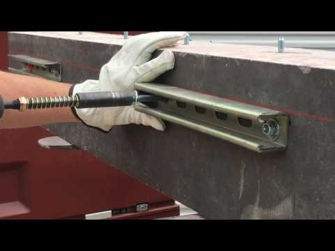 """Fastening Unistrut to Concrete Using 3/8"""" Wedge Anchors"""