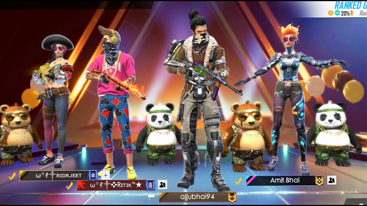 Free Fire Live - Squad Heroic to Grandmaster - Total Gaming