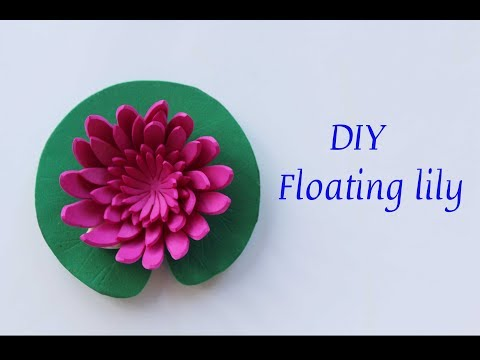 how to make floating lily | DIY water lily | lotus | floating flower