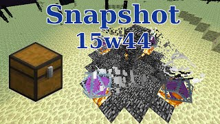 [Snapshot] 15w44 : Cristal de l'End, loots et indicateur d'effets !