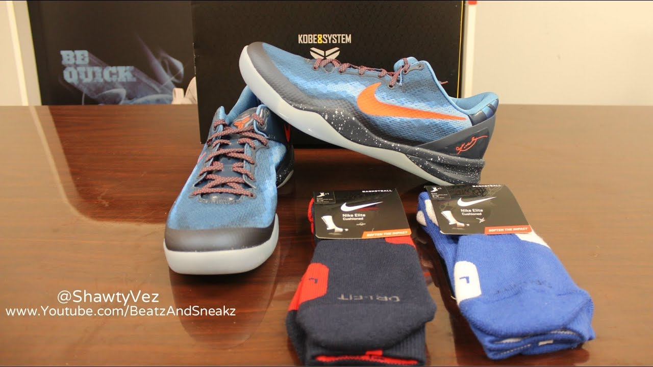 72dd0b26bbb2 Nike Kobe 8 System Blitz Blue Review - YouTube