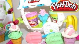 Juegos Play-doh - Carrito De Helados | Play-doh Ice Cream Sundae Cart| Mundo De Juguetes
